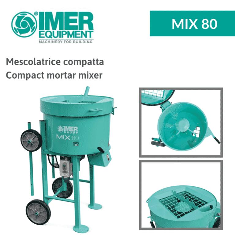 Mix 80 MESCOLATRICE IMER - completa - Edilizia Tecno Edil